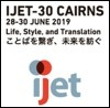 IJET-30 in Cairns (Register Soon!)
